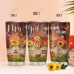My God Flowers KD2 MAL2701023Z Stainless Steel Tumbler