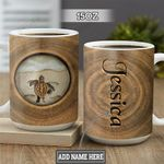 Personalized Turtle Wooden Style TTZ2801004Z Full Color Ceramic Mug