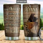 Personalized Piano Gods Gift DNM2801006Z Stainless Steel Tumbler