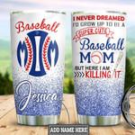 Personalized Baseball Mom HLM3001008Z Stainless Steel Tumbler