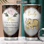 To Elephant Mom Personalized PYR3001014Z Stainless Steel Tumbler