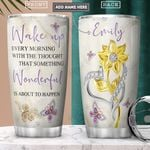 Faith Butterfly Personalized PYR3001005Z Stainless Steel Tumbler