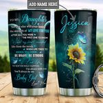 Personalized Sunflower Butterfly Mom To Daughter TTZ3001005Z Stainless Steel Tumbler