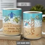 Personalized Beach Turtle TTZ2801001Z Full Color Ceramic Mug
