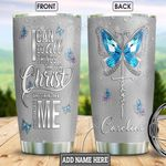 Butterfly Faith Personalized NNR0102003Z Stainless Steel Tumbler