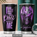 Dragon Faith Personalized PYR0102004Z Stainless Steel Tumbler
