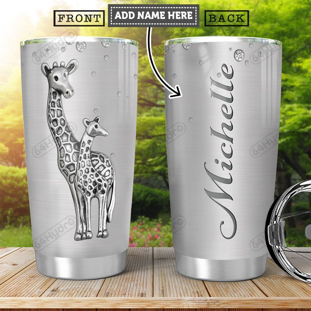 Giraffe Silver KD4 Personalized HHA0102012Z Stainless Steel Tumbler