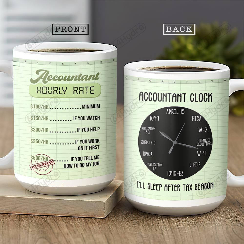 Accountant Clock KD4 THA0102001Z Full Color Ceramic Mug