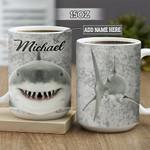 Personalized Shark BGZ0202014Z Full Color Ceramic Mug