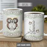 Personalized Owl Jewelry Style TTZ0202013Z Full Color Ceramic Mug