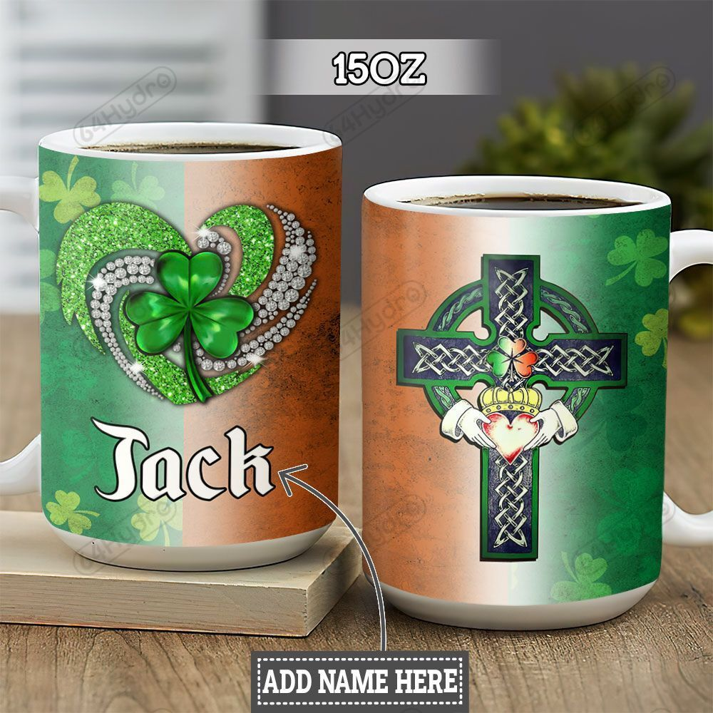 Personalized Irish Heart TTZ0202008Z Full Color Ceramic Mug