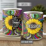 Personalized Hippie Sunflower BGZ0202006Z Full Color Ceramic Mug