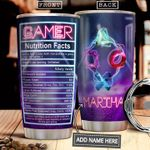 Gamer Facts Personalized NNR2112002 Stainless Steel Tumbler