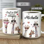 Personalized Giraffe Lover DNM0202009Z Full Color Ceramic Mug
