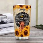 Black Women Faith Personalized PYR1211002 Stainless Steel Tumbler