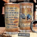 To My Wife Drummer Personalized NNR0311018 Stainless Steel Tumbler