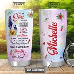 To Son Personalized HHA3110004 Stainless Steel Tumbler