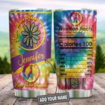 Hippier Nutrition Facts Personalized KD2 HNL1612006 Stainless Steel Tumbler