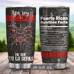 Puerto Rican Boricua Vejigante Nutrition Facts Personalized KD2 HRX0401002Z Stainless Steel Tumbler