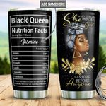 Black Queen Faith Personalized DNR1411005 Stainless Steel Tumbler