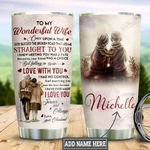 Personalized Old Husband To Wife TTZ1812012 Stainless Steel Tumbler