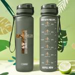 Lion Faith HHA2107021 Black Water Tracker Bottle