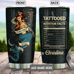 Inked Mermaid Nutrition Facts Personalized KD2 BGM2412002 Stainless Steel Tumbler