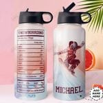 Snowboarding Facts Personalized HHR2610006 Stainless Steel Bottle With Straw Lid
