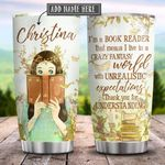 Book Reader Personalized KD2 HRX1411003 Stainless Steel Tumbler