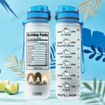Bulldog Facts HTA1107006 Water Tracker Bottle