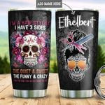 Sugar Skull Hairstylist Personalized DNA2310006 Stainless Steel Tumbler