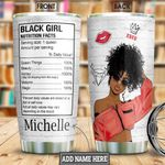 Black Woman Personalized HTC1111001 Stainless Steel Tumbler