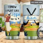 Golf Girl Personalized MDA0411010 Stainless Steel Tumbler