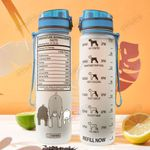 Miniature Schnauzer Facts HLA2507038 Water Tracker Bottle