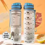 Miniature Schnauzer Facts Personalized HLA2507040 Water Tracker Bottle