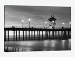 Huntington Beach Pier at sunset, California, USA