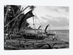 1930s Catamarans On Tropical Beach Indian Ocean Sri Lanka