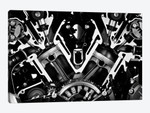 Car Engine Front Grayscale