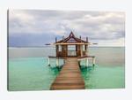 Caribbean, Honduras, Roatan. Dock leading to a gazebo.