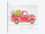 Farmhouse Stamp Red Truck