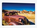 Rusted car and buildings, Bodie State Historic Park, California, USA