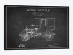 Edward B. Gallaher Motor Vehicle Patent Sketch (Charcoal)