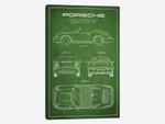 Porsche Corporation Porsche Patent Sketch (Green)