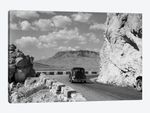 1930s-1940s Car Driving On Mountain Road In Yellowstone National Park Near Cody Wyoming USA