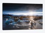 Midnight Sun On The Glacial Lagoon, Iceland