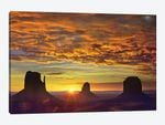 The Mittens And Merrick Butte At Sunrise, Monument Valley, Arizona