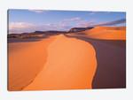 Wind Ripples In Sand Dunes Beneath Sandstone Cliffs, Coral Pink Sand Dunes State Park, Utah I