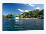 Dock In The Pacific Ocean, Moorea, Tahiti, French Polynesia