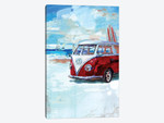 Red Camper Van