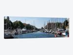 Boats Moored Along Canal, Copenhagen, Denmark